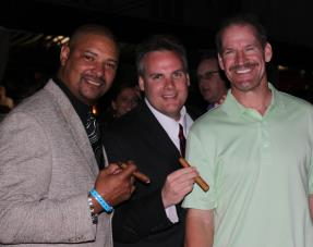 Walter Briggs, John Ost and Bill Cowher at Cigar Event